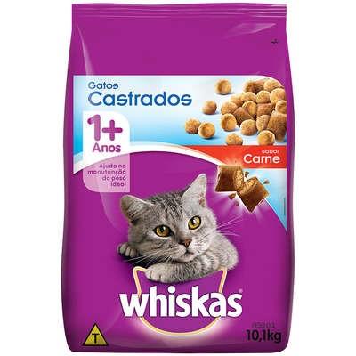 Ração Whiskas Carne 1+ Anos para Gatos Castrados