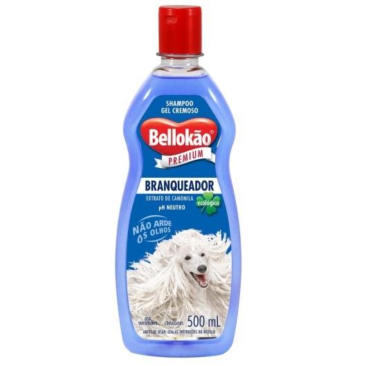 Shampoo Bellokão Branqueador para Cães e Gatos - 500ml